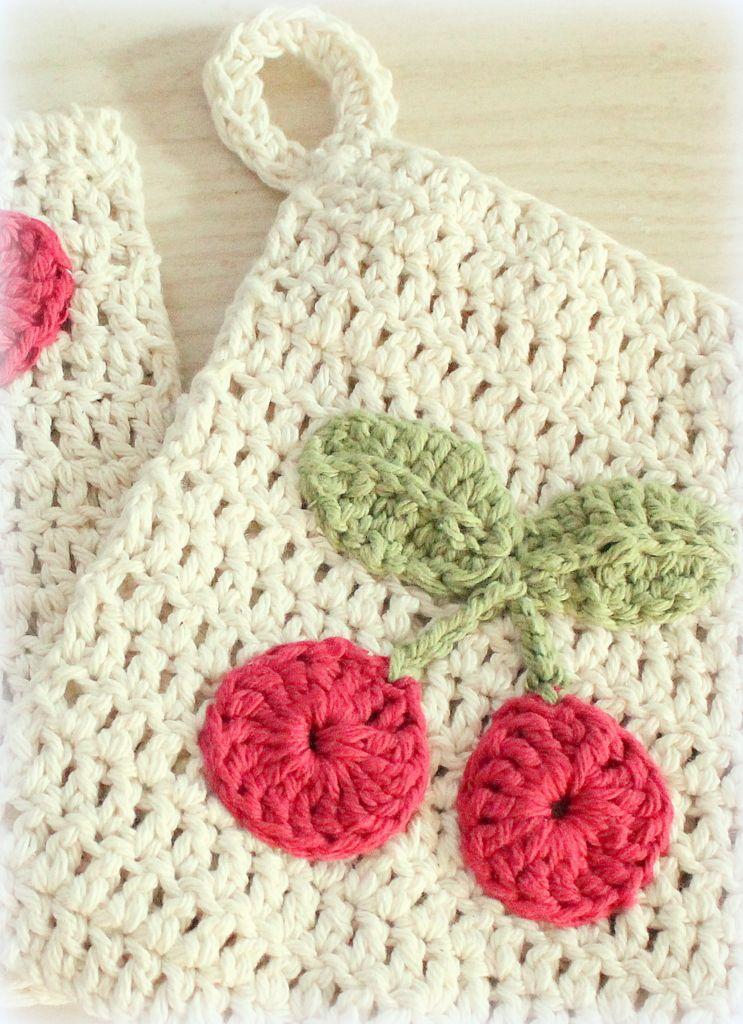 Pot holder free pattern. thestitchpattern.blogspot.com | Amigurimi ...