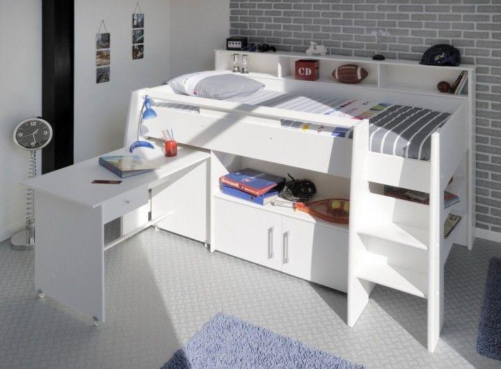 Multifunktionsbett Hochbett Finn Halbhohes Kinderbett Hochbett