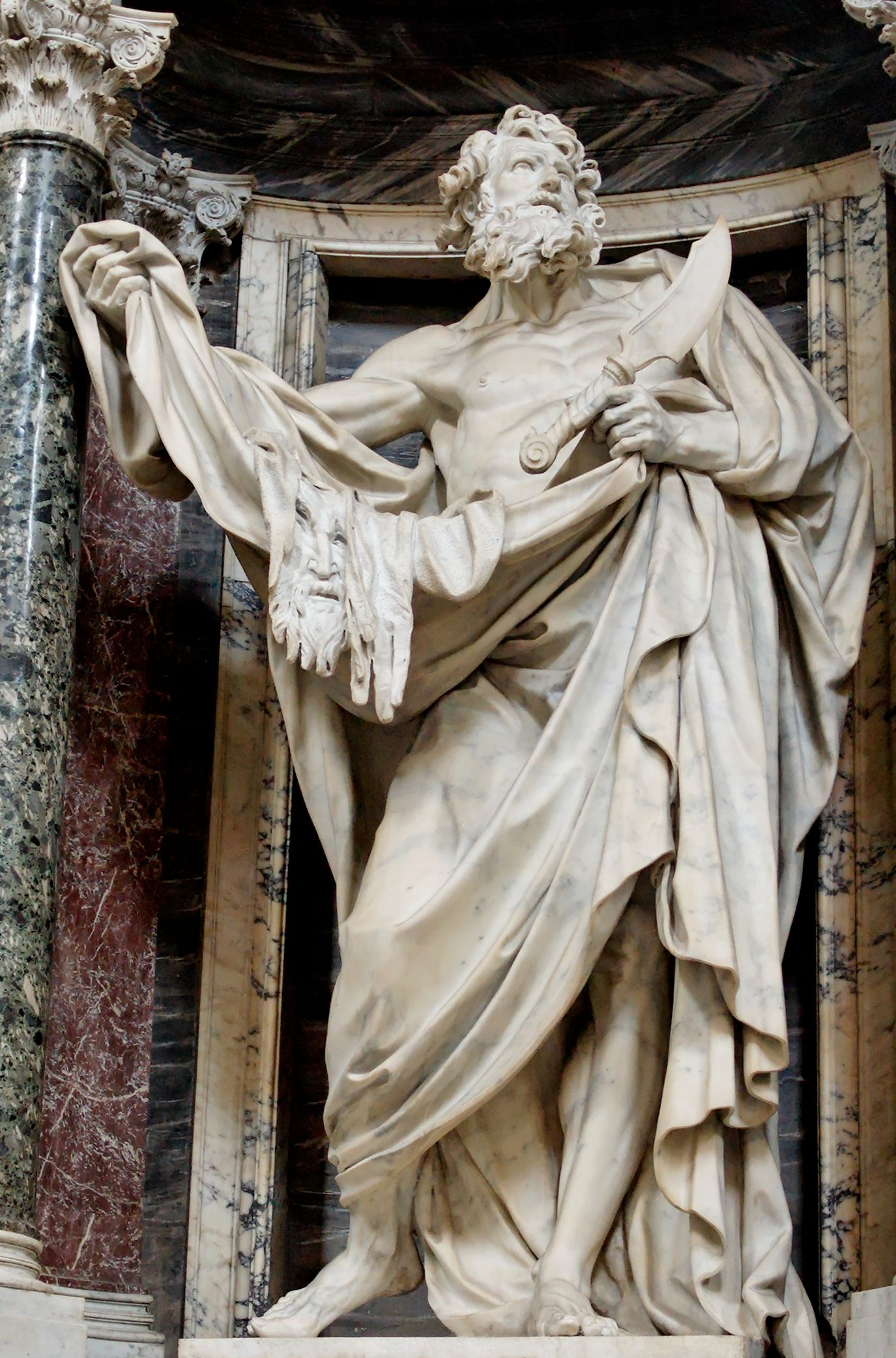 Image result for colossal statues of the 12 apostles, st john lateran