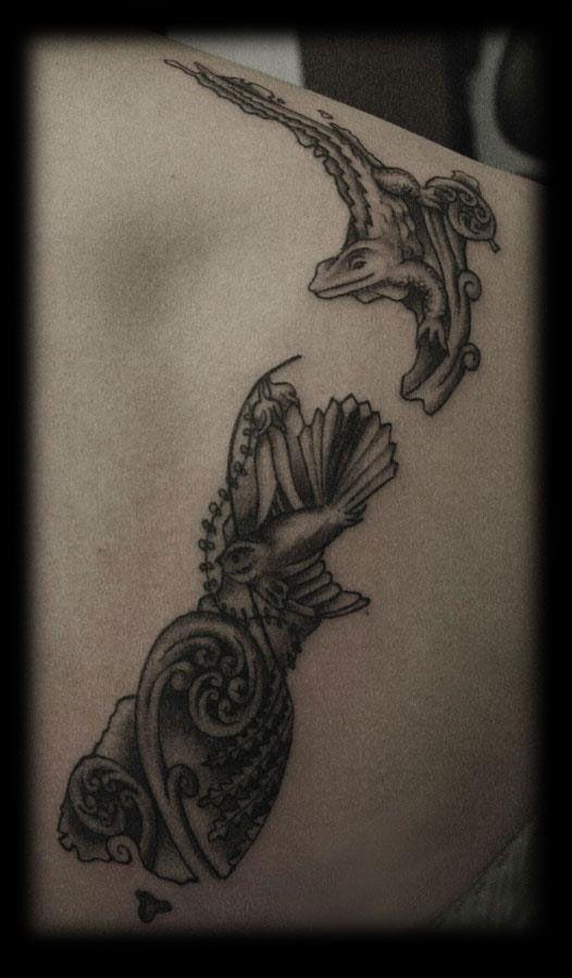 Maori Kiwi Tattoo: New Zealand Tattoo, Tattoos, Fake Tattoos