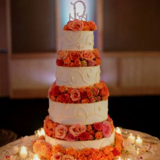 I want my wedding cake to look like this maybe smaller cause I want a small wedding.