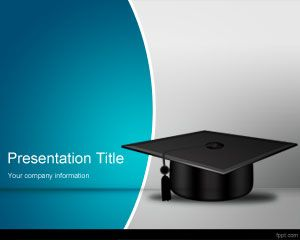 school completion powerpoint template is a free graduation