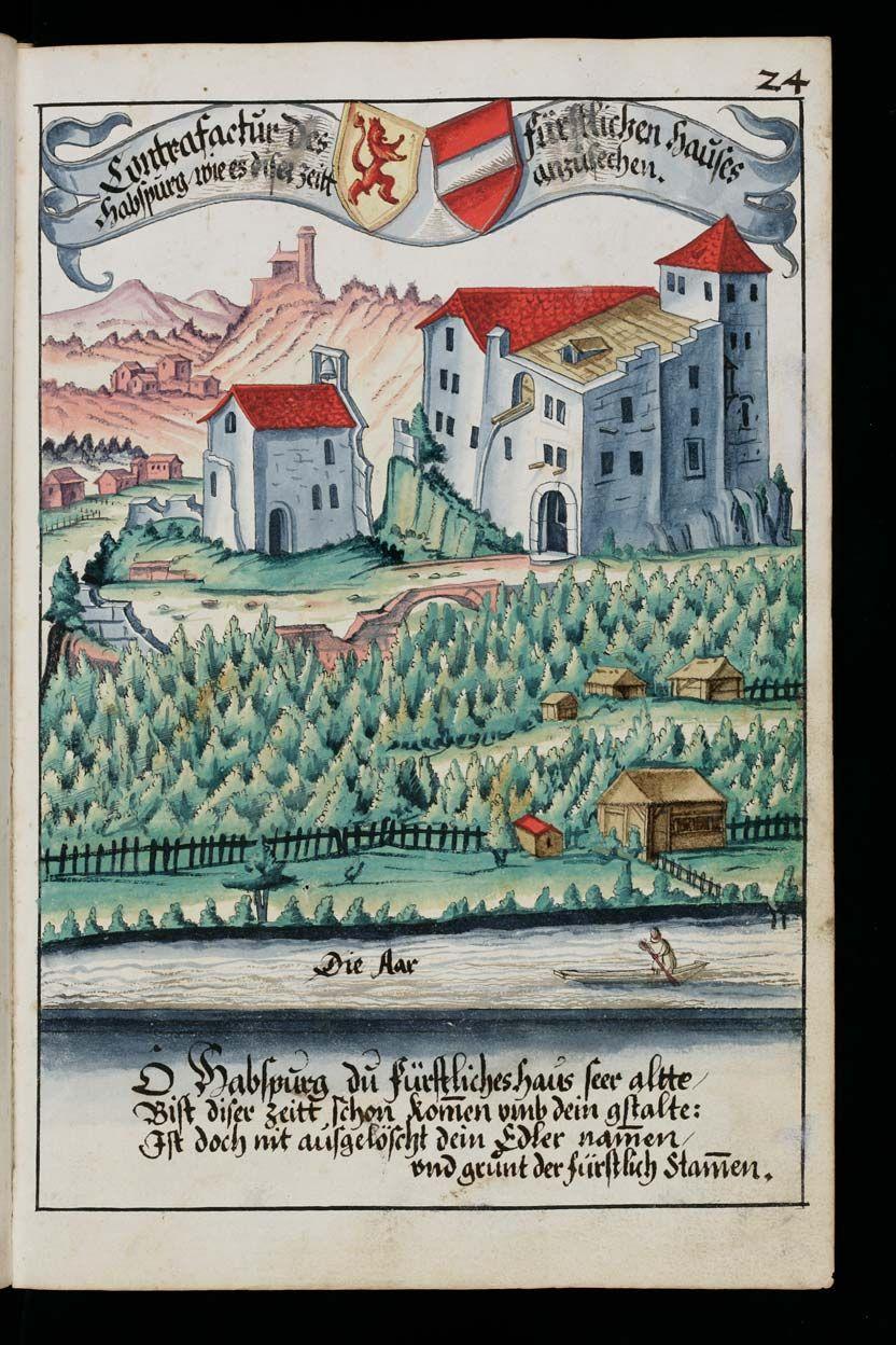 Aarau, Staatsarchiv Aargau, V/4-1985/0001: Heraldry Guide of Hans Ulrich Fisch · Aarau · 1627 Language:German . (http://www.e-codices.unifr.ch/en/list/one/saa/V4-1985)