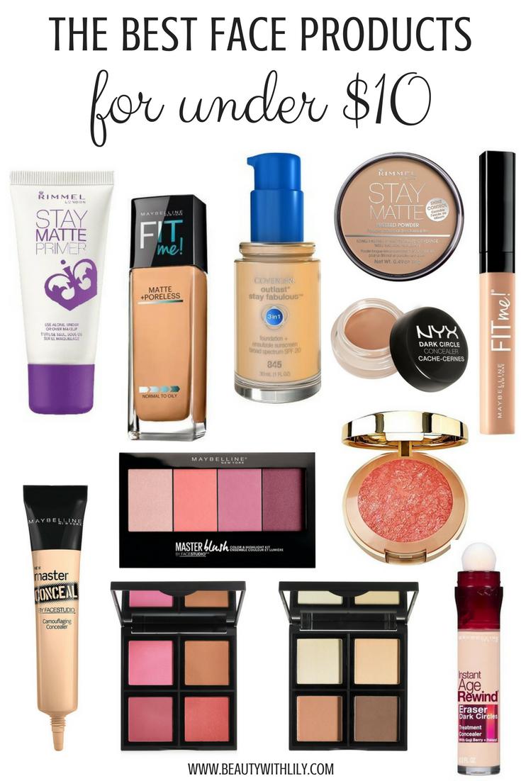 Best Face Makeup UNDER 10 // Affordable Makeup Products
