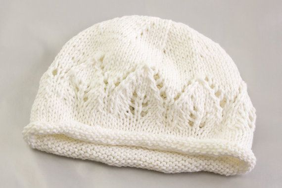 Knitting Pattern Newborn Baby Hat Baby Hat With Lace Panel Baby