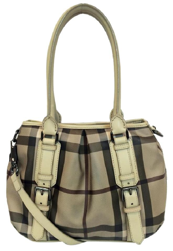 4bbb19ef5244 Smoked Check Small Northfield Trench Beige Pvc Tote
