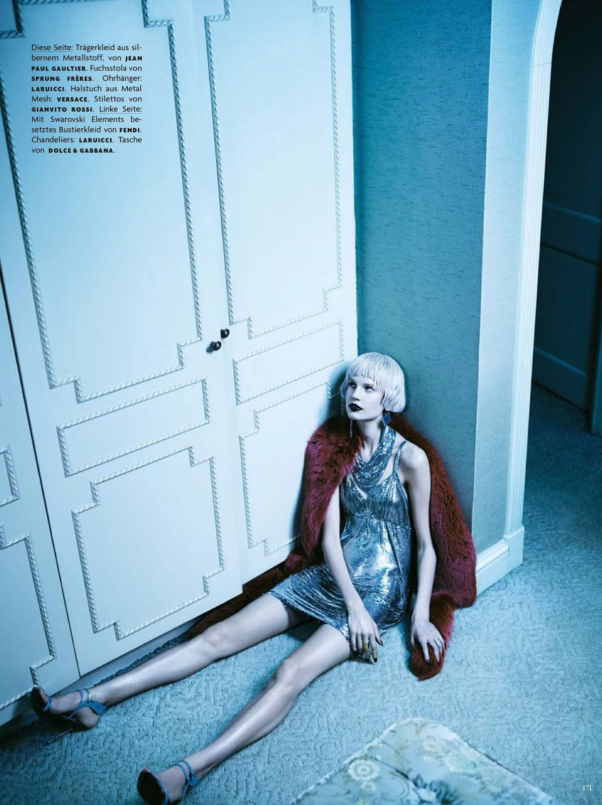 """collections-from-vogue: COLLECTION #227: Elisabeth Erm in """"Scheinwerfer"""" by Emma Summerton for Vogue Germany, April 2014"""