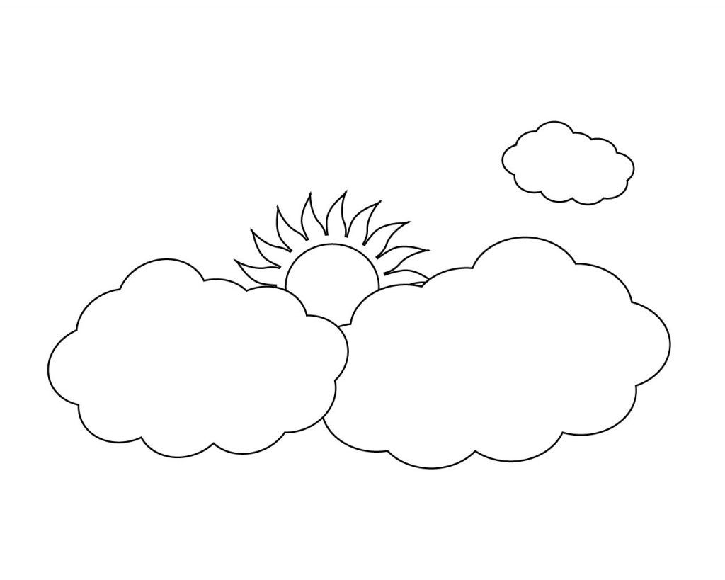 Sun And Clouds Coloring Pages Free Coloring Pages Deer Coloring Pages Frog Coloring Pages