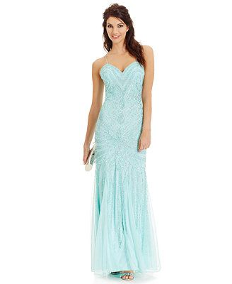Joanna Chen Beaded Sweetheart Gown #Macys #JoannaChenNY | Prom ...