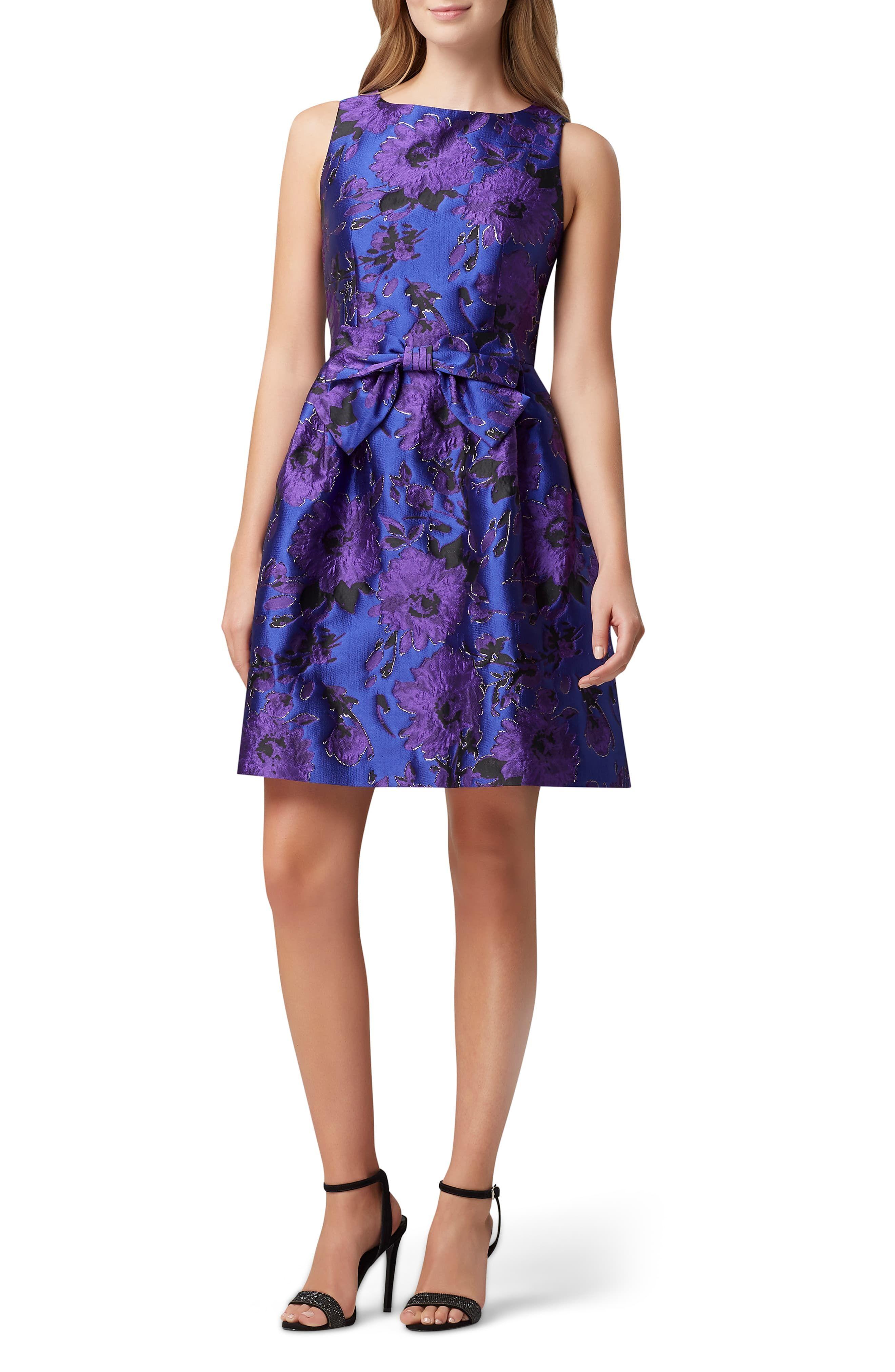 Hippie Womens Tahari Jacquard Fit Flare Dress Jacquard Dress Flare Dress Fashion Clothes Women [ 4048 x 2640 Pixel ]