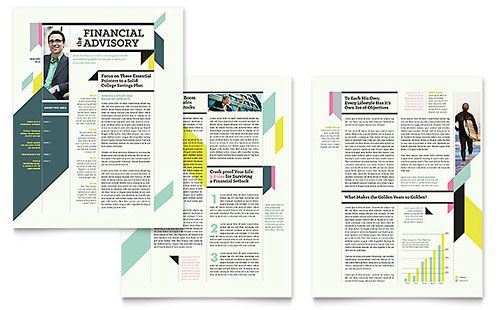 Personal Finance Newsletter Template Design Pinterest - free templates for newsletters in microsoft word