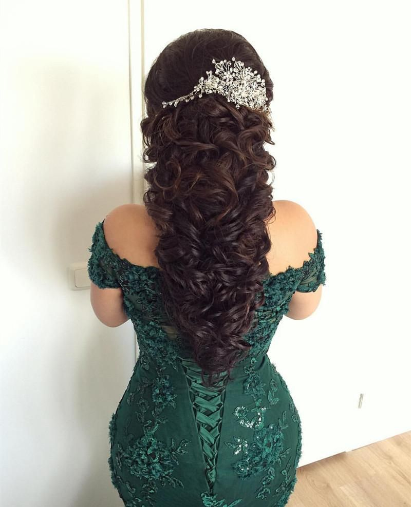 stylish lace mermaid evening dresses off-the-shoulder prom