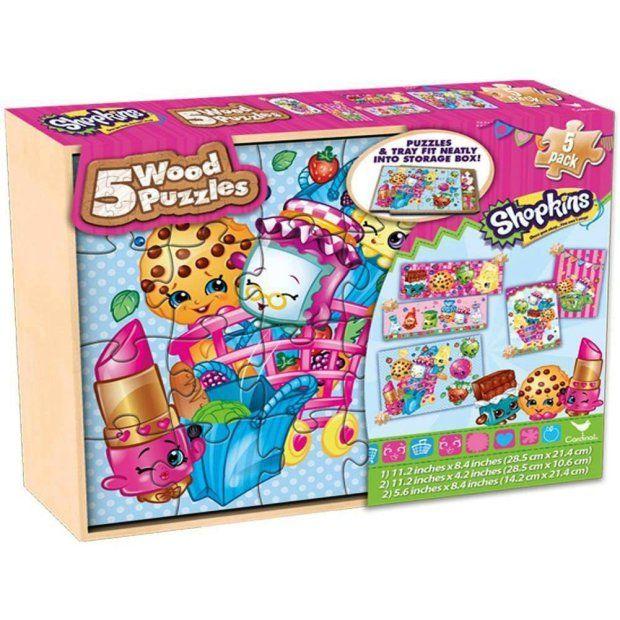 Shopkins 5 Wood Puzzles Set Only 8 89 Reg 20 Wood Puzzles Wood Storage Box Creative Bookmarks