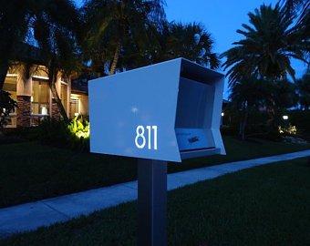Modern Mailbox Etsy Modern Mailbox Midcentury Modern Low