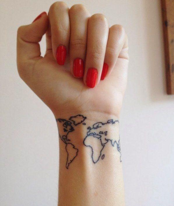 Wrist Travel Tattoo Ideas For Girls Wrist Tattoos Map