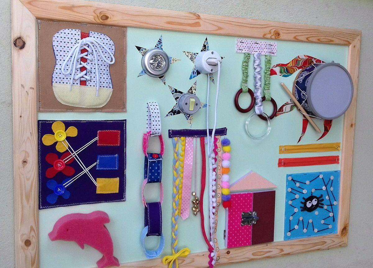 Painel Sensorial Busy Board No Elo7 Gigi Gigio C0de3c Jogos Para Bebes Sensoriais Desenvolvimento Motor