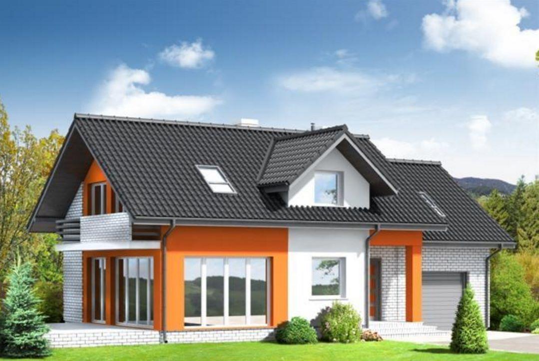 Fachada de casa cl sica de tejas negras bella2 for Fachada casa clasica