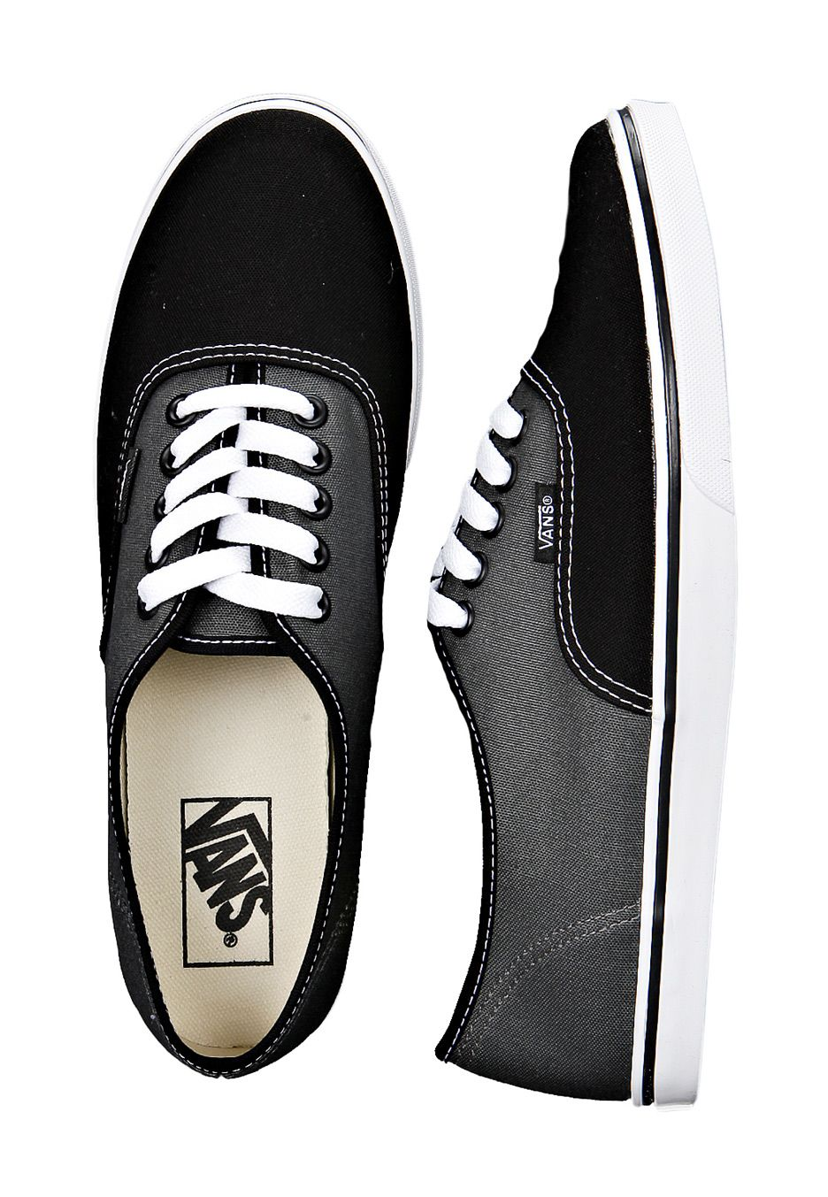 c2def23fd969 Black and dark gray vans for women