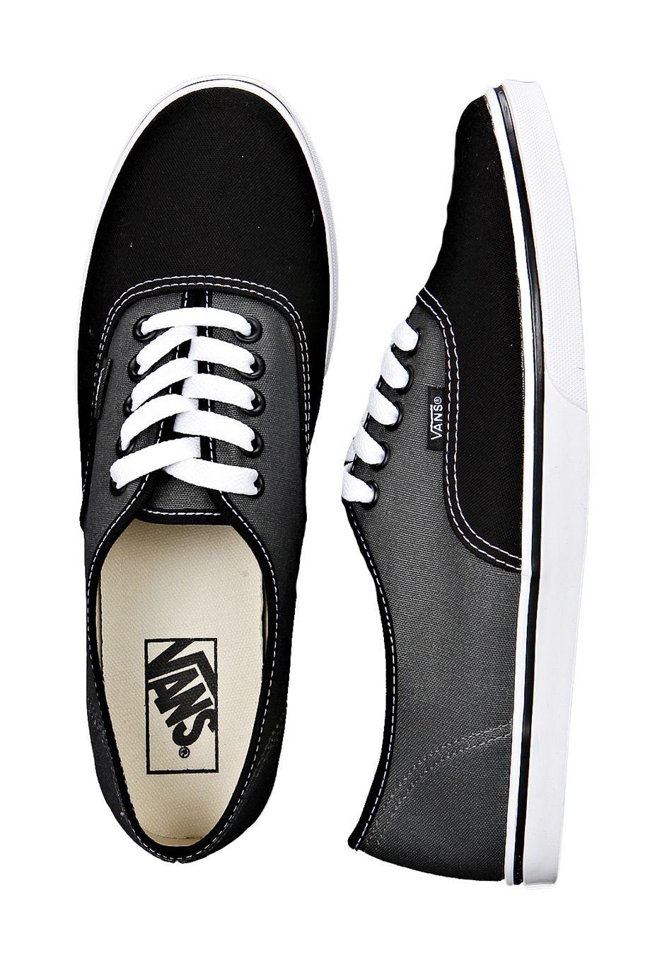 Black and dark gray vans for women | Zapatos impresionantes