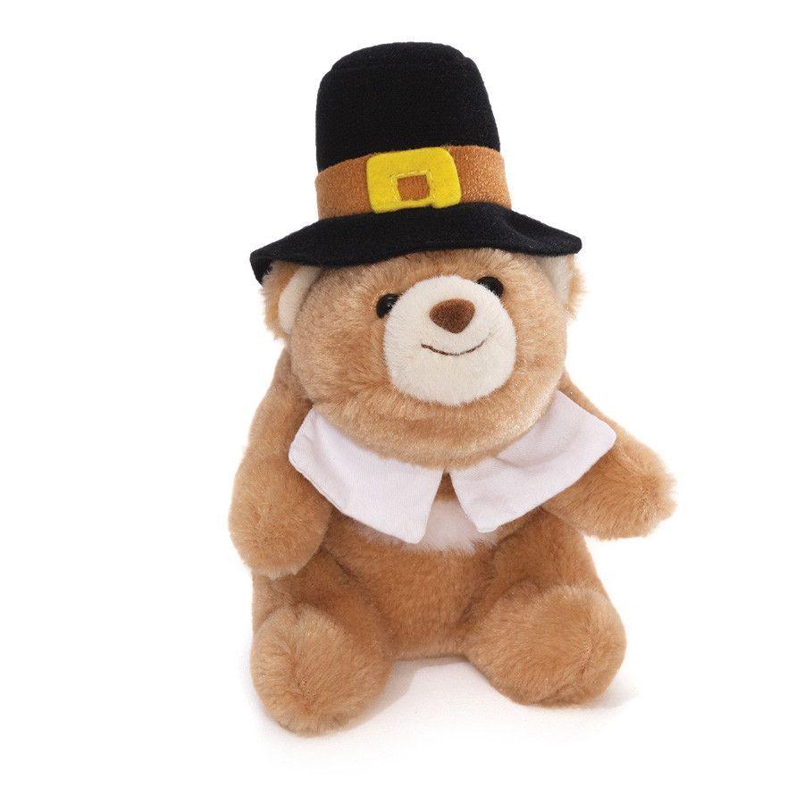 "Gund Lil' Snuffles Bear Pilgrim 5"""""