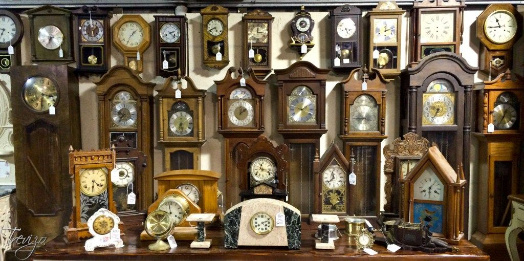 Antique Clock Collection. Over 100 Collectible Clocks. Signed and Unsigned. To Be Auctioned June 14, 2014. www.TrevizoAuctions.com