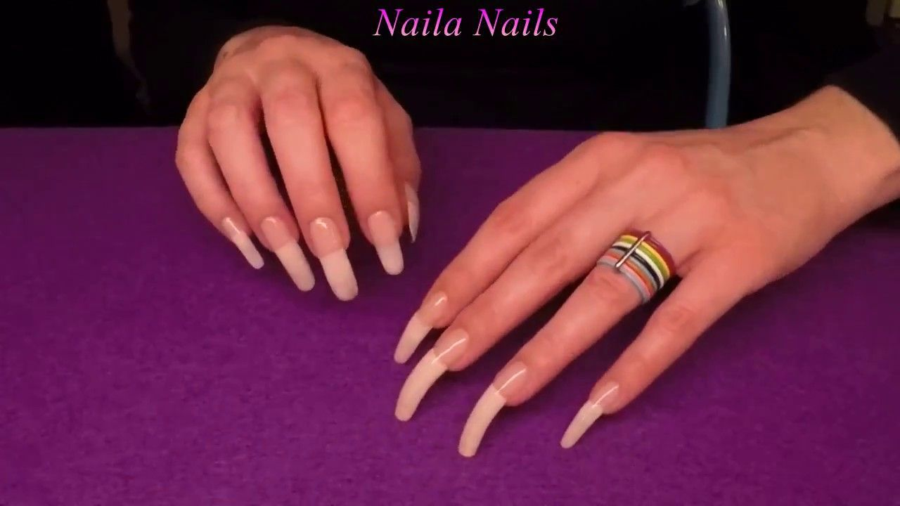 ASMR - Gently scratching a felt sheet + NATURAL LONG NAILS | Naila ...
