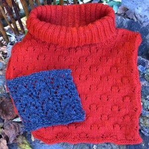 294a910745f Få gratis opskrift på mønsterstrikket halsedisse. Kan strikkes i  Shetlandsuld eller strømpegarn, i snefnug