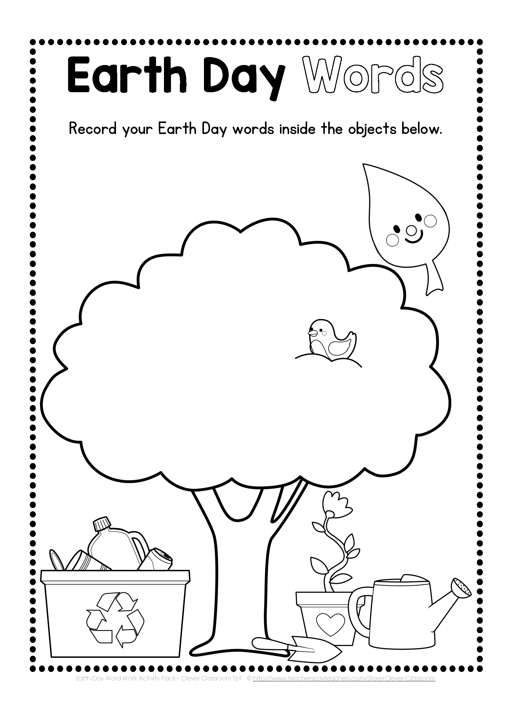 Earth Day Word Work Pack
