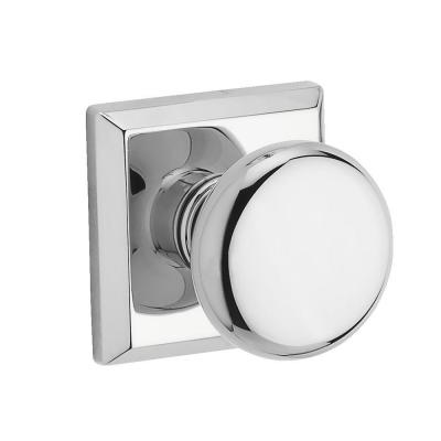 Baldwin Reserve Round Polished Chrome Hall/Closet Door Knob With  Traditional Square Rose