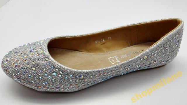 Baleriny Damskie Cekiny Wh 34 Silver Rozm36 41 3441137086 Oficjalne Archiwum Allegro Fashion Shoes Flats