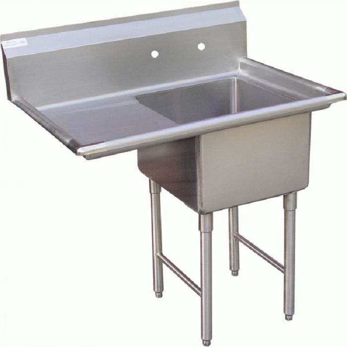 Captivating GSW SE18181L One Compartment Stainless Prep Sink W/ Left Drain Board