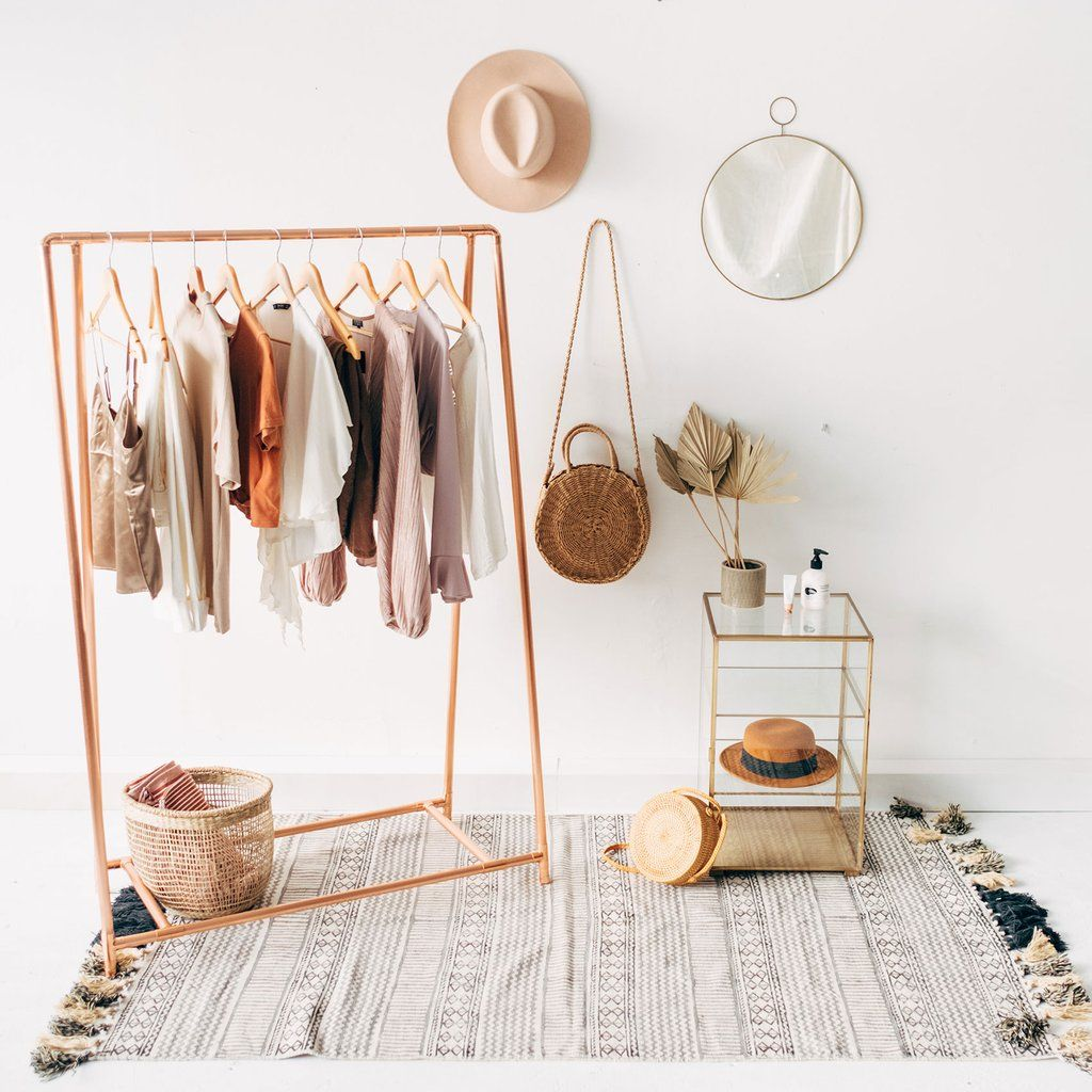 Copper Pipe A Frame Clothing Rail / Garment Rack / Clothes Storage ...