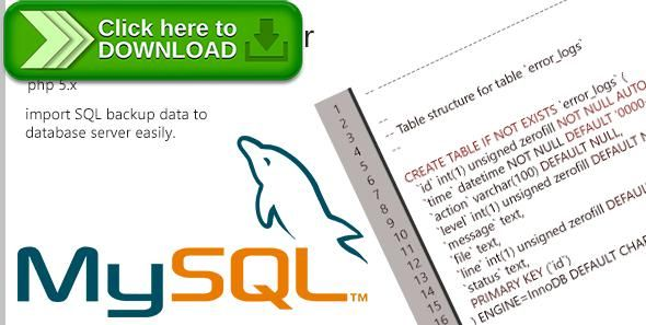 Free nulled SQL Importer PHP Class download | php | Free
