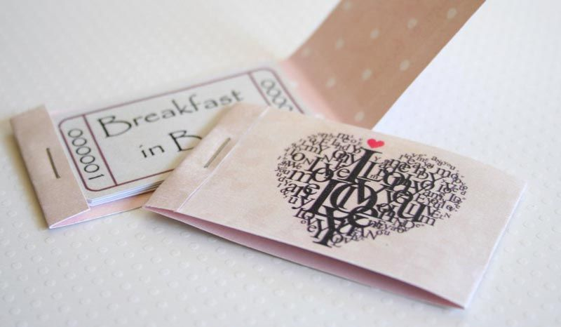 Romantic Coupons To Download Personalize And Print Birthday