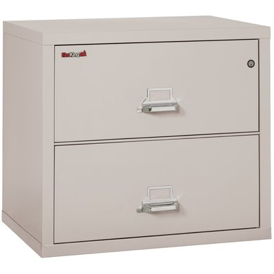 Fireproof 2 Drawer Lateral File Finish Platinum Lock Manipulation Proof Comb Lock Lateral File Filing Cabinet Lateral File Cabinet