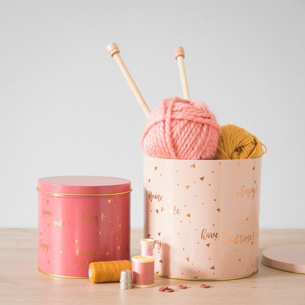 Bo Te Ronde En Inox Imprim Rose Maisons Du Monde Craftroom