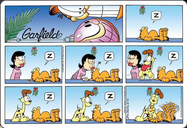 Garfield Mistletoe Garfield Comics Comic Strips Garfield Cartoon