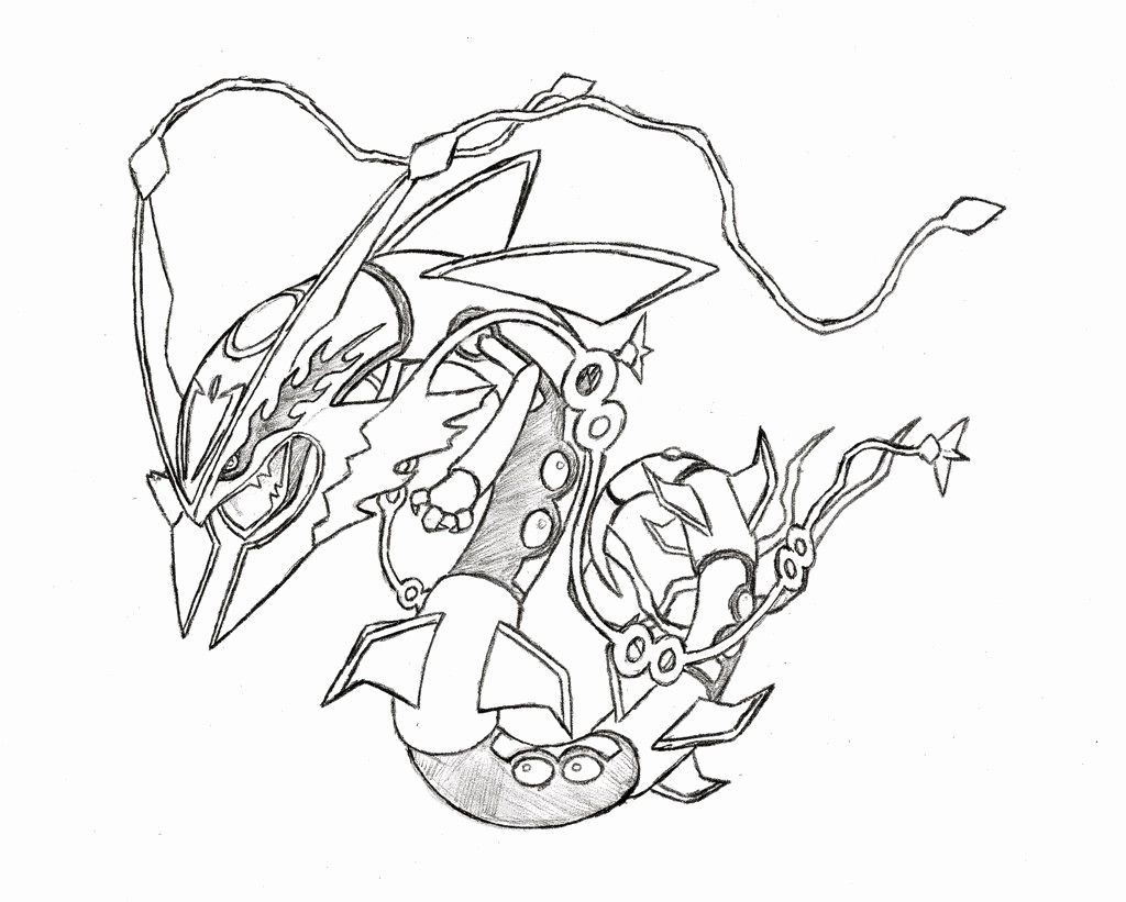 coloring pages mega rayquaza coloring