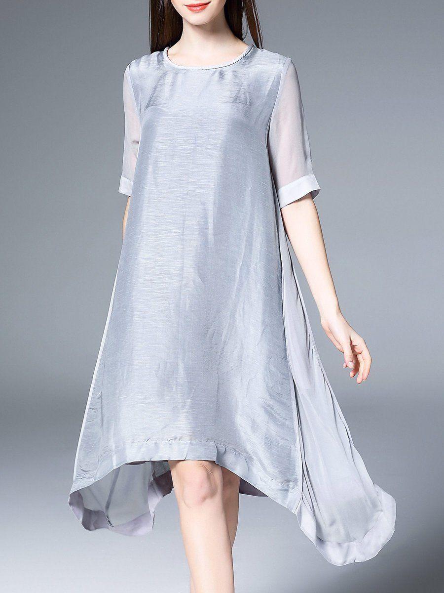Adorewe stylewe designer midi dresses designer phoebe fp gray