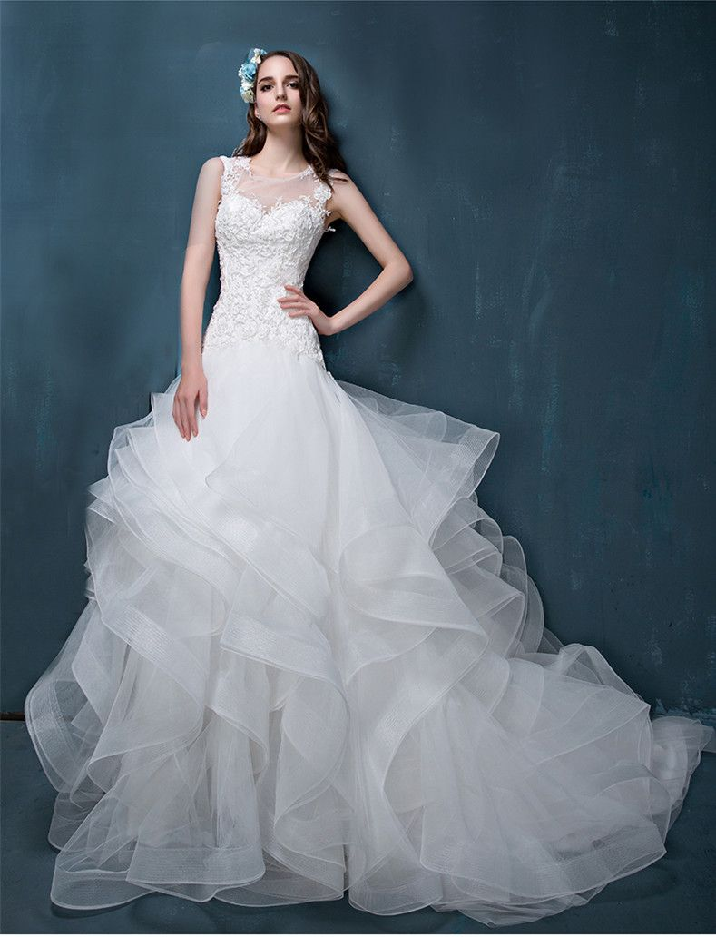 Retro wedding dress  Click to Buy ucuc lace appliques beading casamento vintage wedding