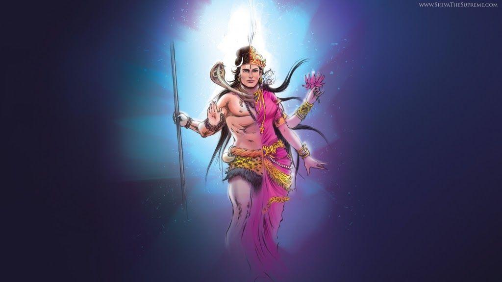 The Destroyer Shiva Hd Wallpaper For Free Download Desktop: Ardhnarishwar Attractive HD Wallpaper For Free Download
