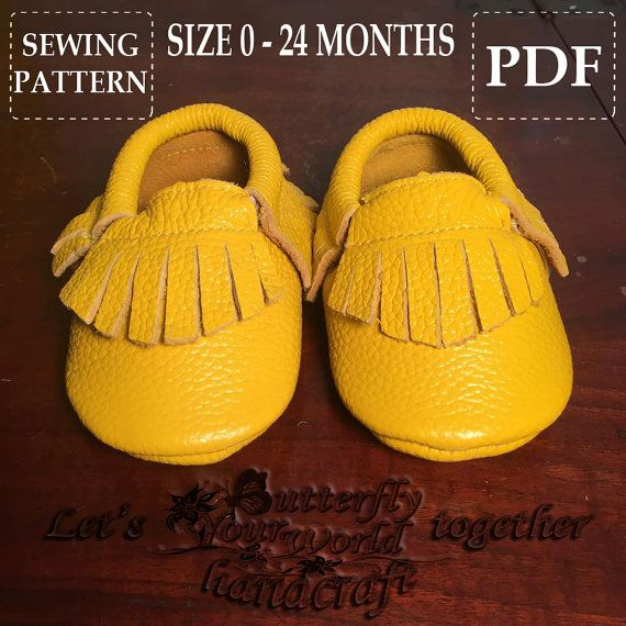 d9b2cb5ac7ab Baby Moccasins Sewing Pattern Easy and Simple Steps PDF Tutorial ...