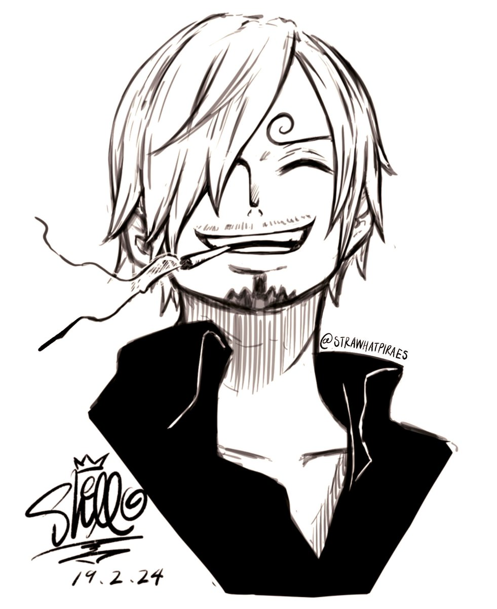 One Piece Sanji smile