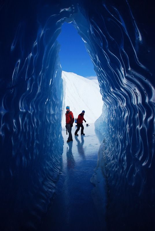 Ice tunnel in Queen Maud Land territory, Antarctica (by oytunorgul).