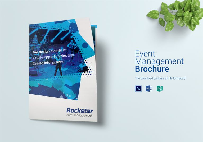 Event Management Bi Fold Brochure Template Event Management