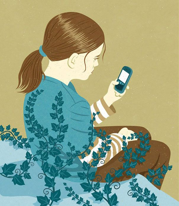 Satirical Illustrations Show Our Addiction To Technology - 17 satirical illustrations that show humans havent really evolved