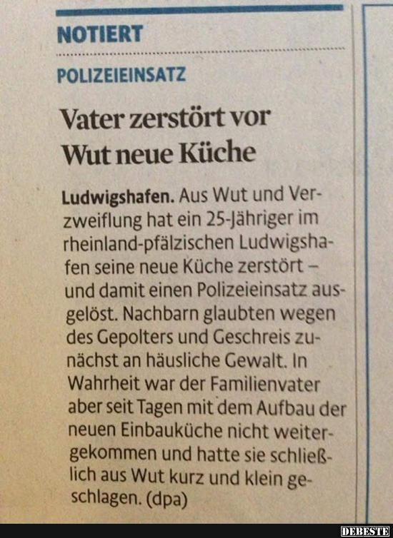Vater zerstört vor Wut neue Küche.. | Lustige Bilder ...