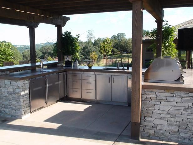 Outdoor Kitchen Ideas  Kitchens Diy Network And Room Unique Outdoor Kitchen Layout 2018