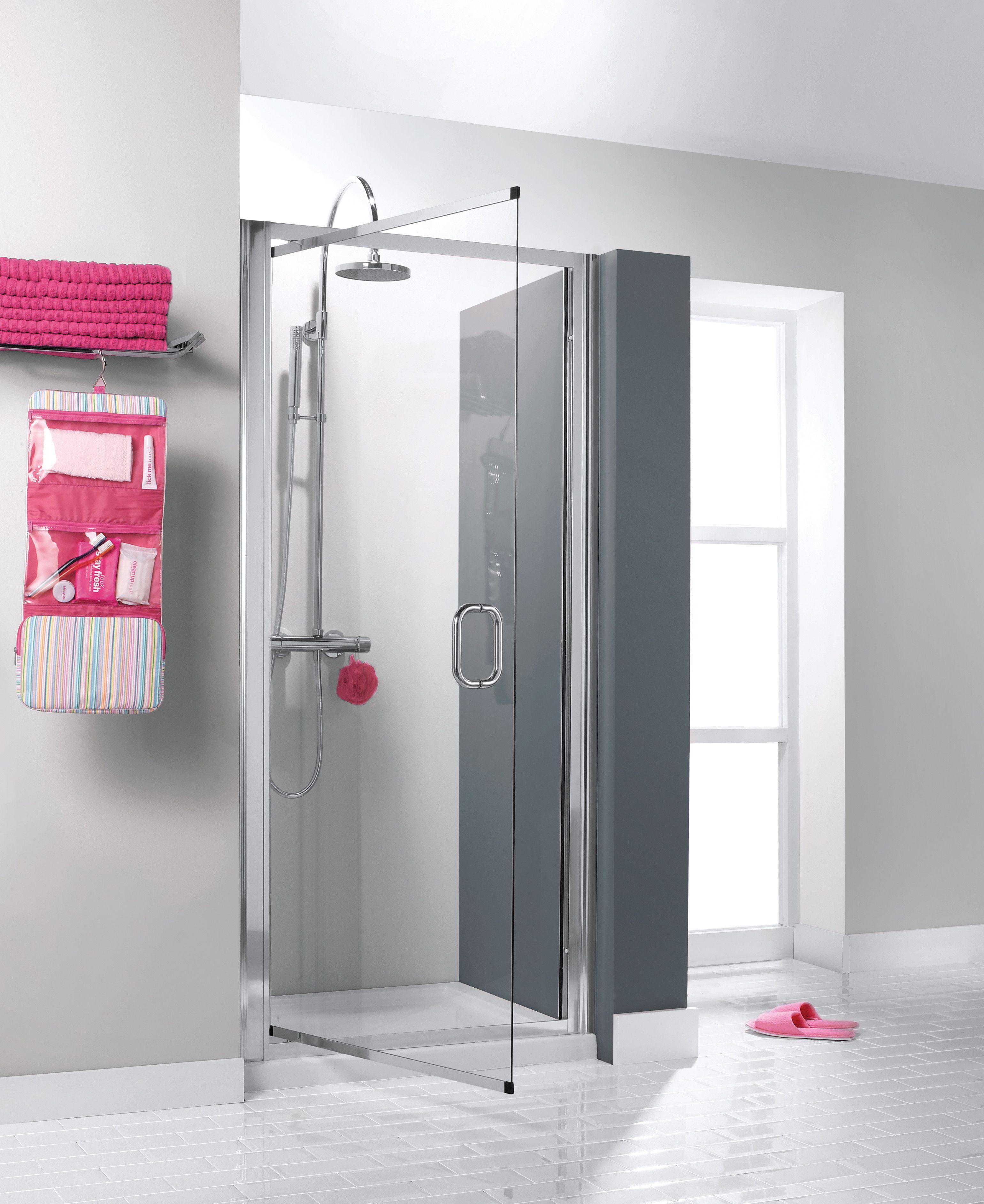 Supreme Luxury Pivot Bathroom Shower Door from Crosswater http://www ...