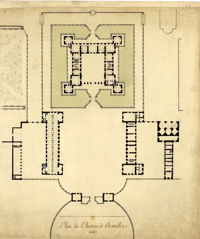 Floor Plan Of The Chateau De Versailles In 1667 Archimaps Floor Plans Urban Design Plan Versailles